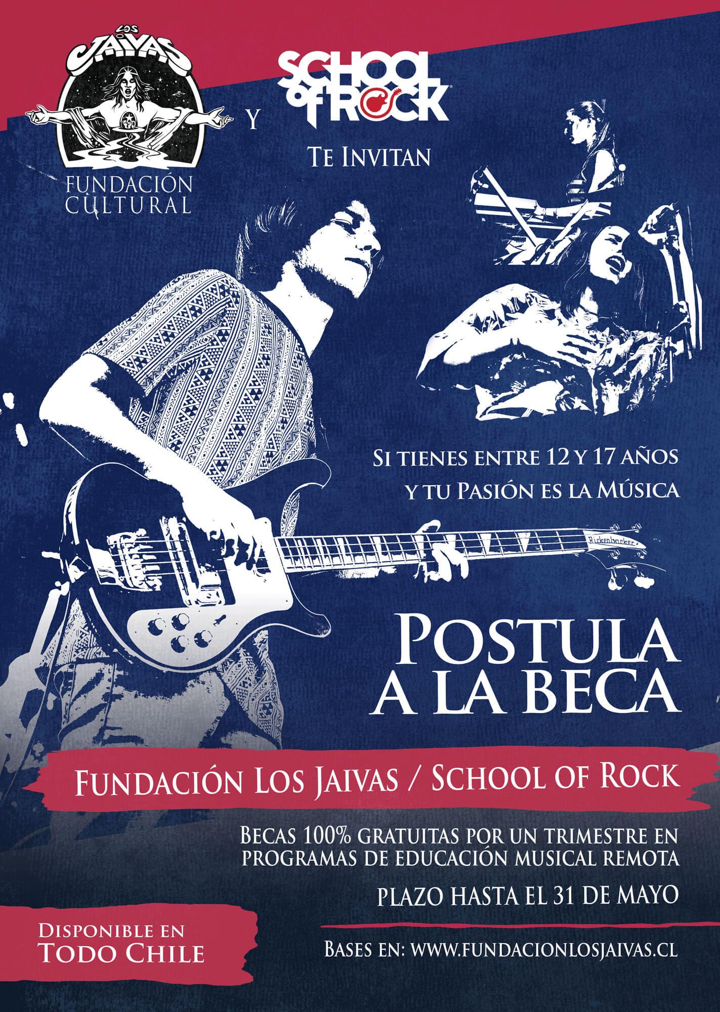 beca fundacion los jaivas school of rock