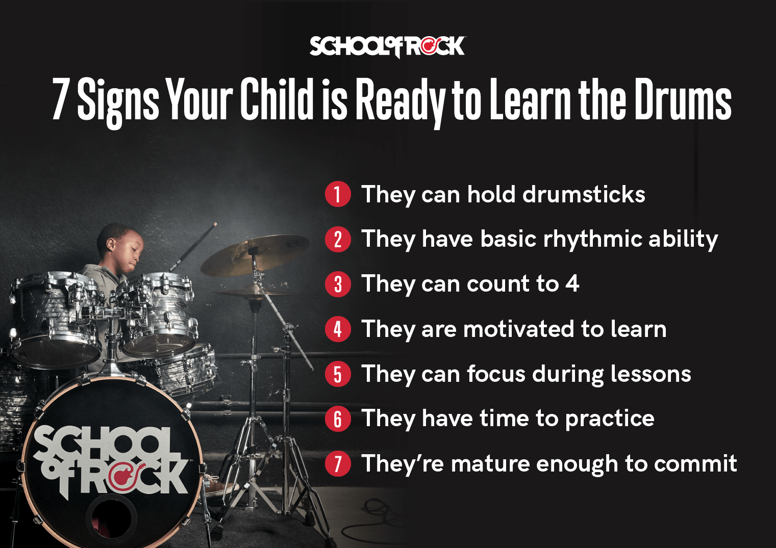 7 signs your child is ready to learn the drums.
