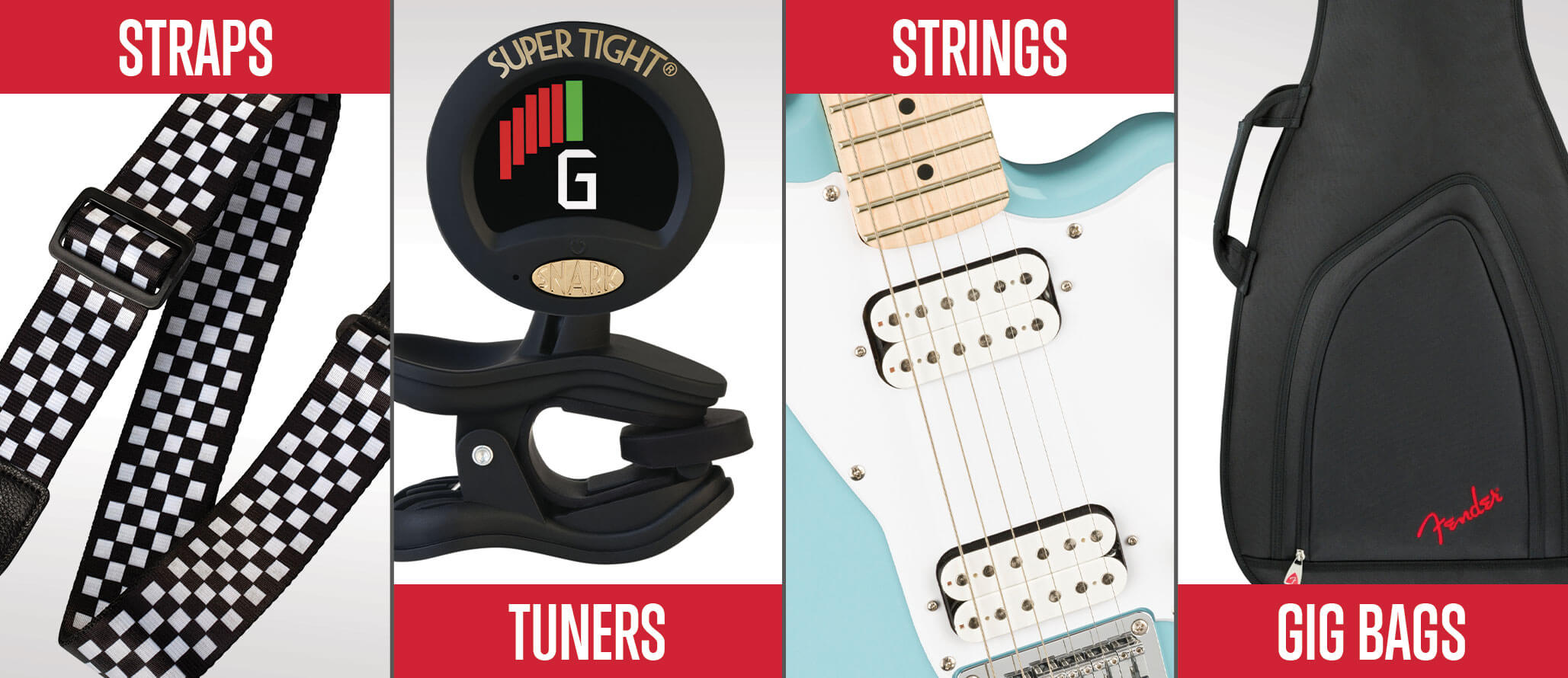 School of Rock sells guitar and bass guitar accessories