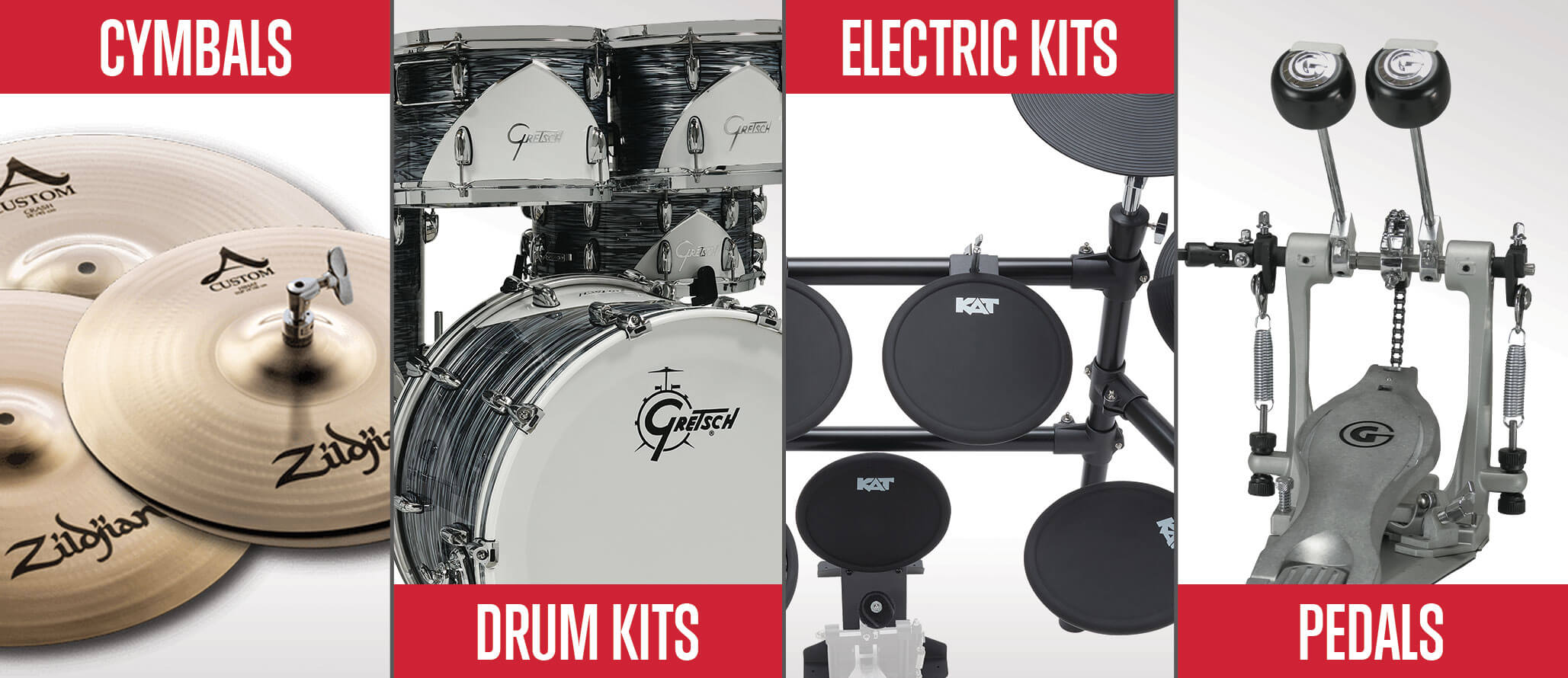 School of Rock sells drum kits and drum accessories