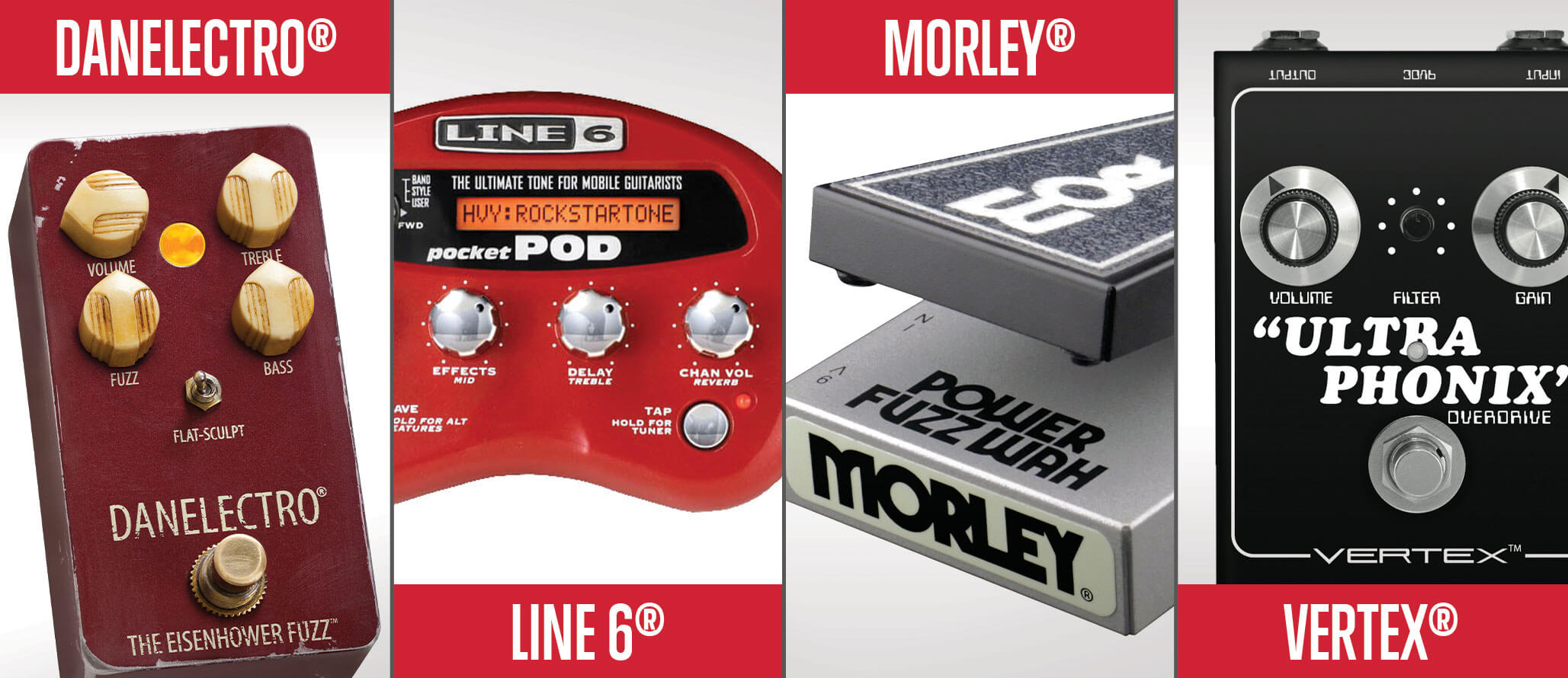 School of Rock sells guitar and bass effects pedals