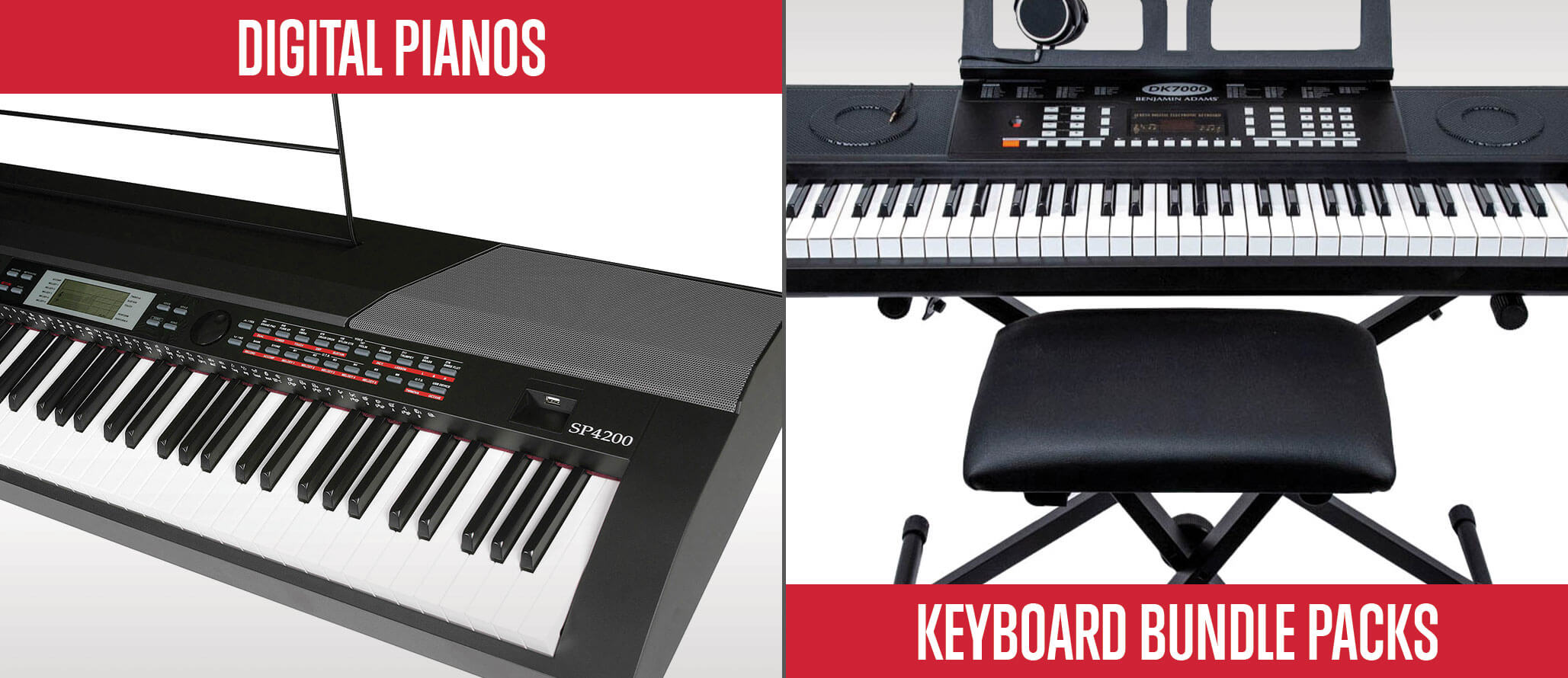 School of Rock sells keyboards and digital pianos