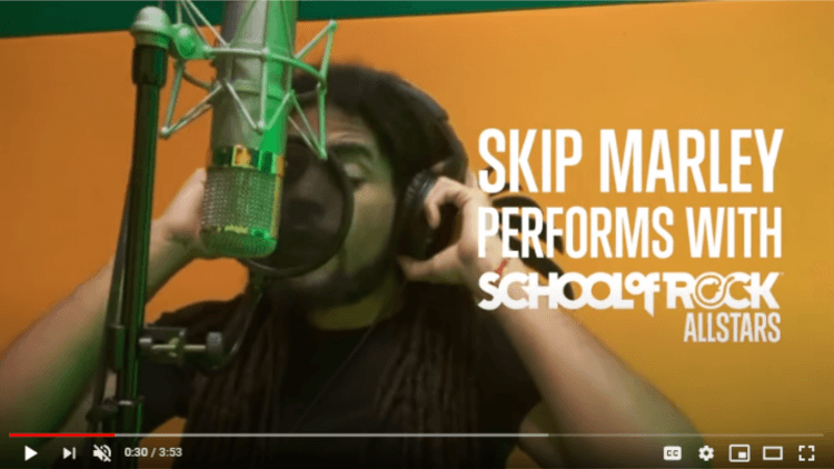 Skip Marley Performs with School of Rock All Stars