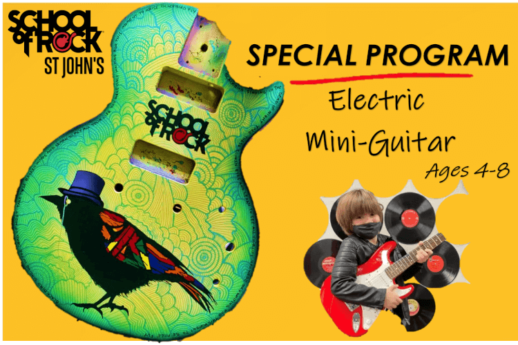 ELECTRIC MINI-GUITAR BOOTCAMP (Ages 4-8)