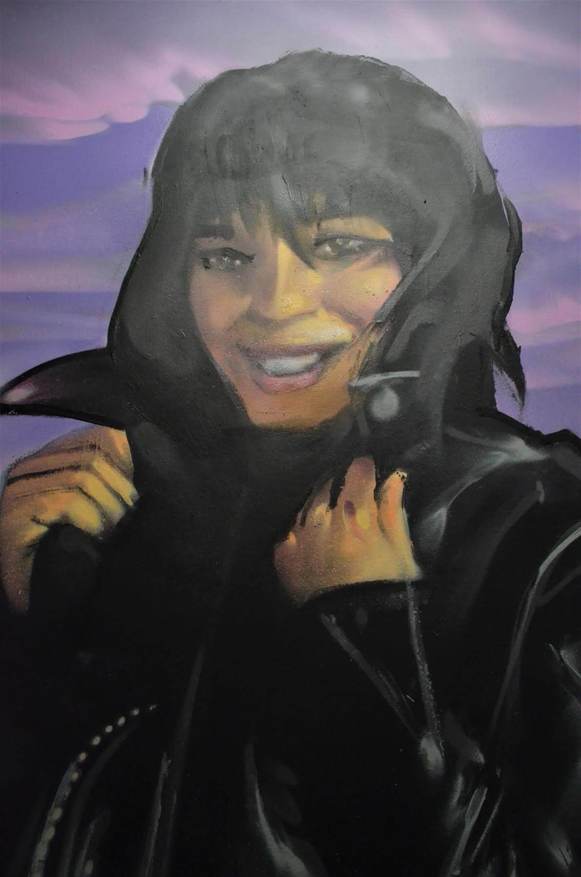 Pat Benatar greets you before you enter the club/stage room.