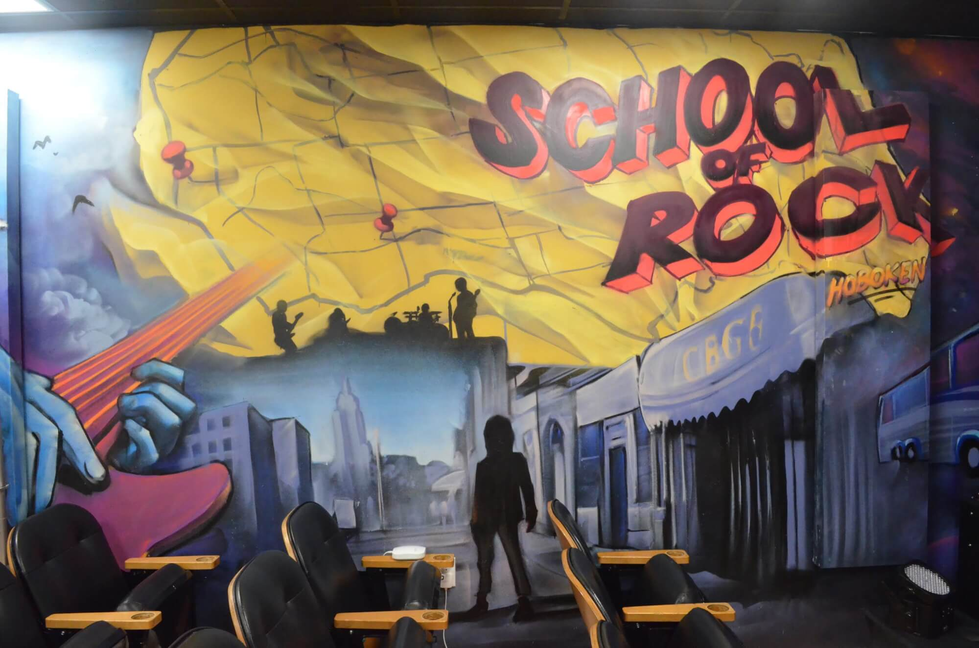 Here's a taste of the awesome mural in our venue space done by local artist Distoart.
