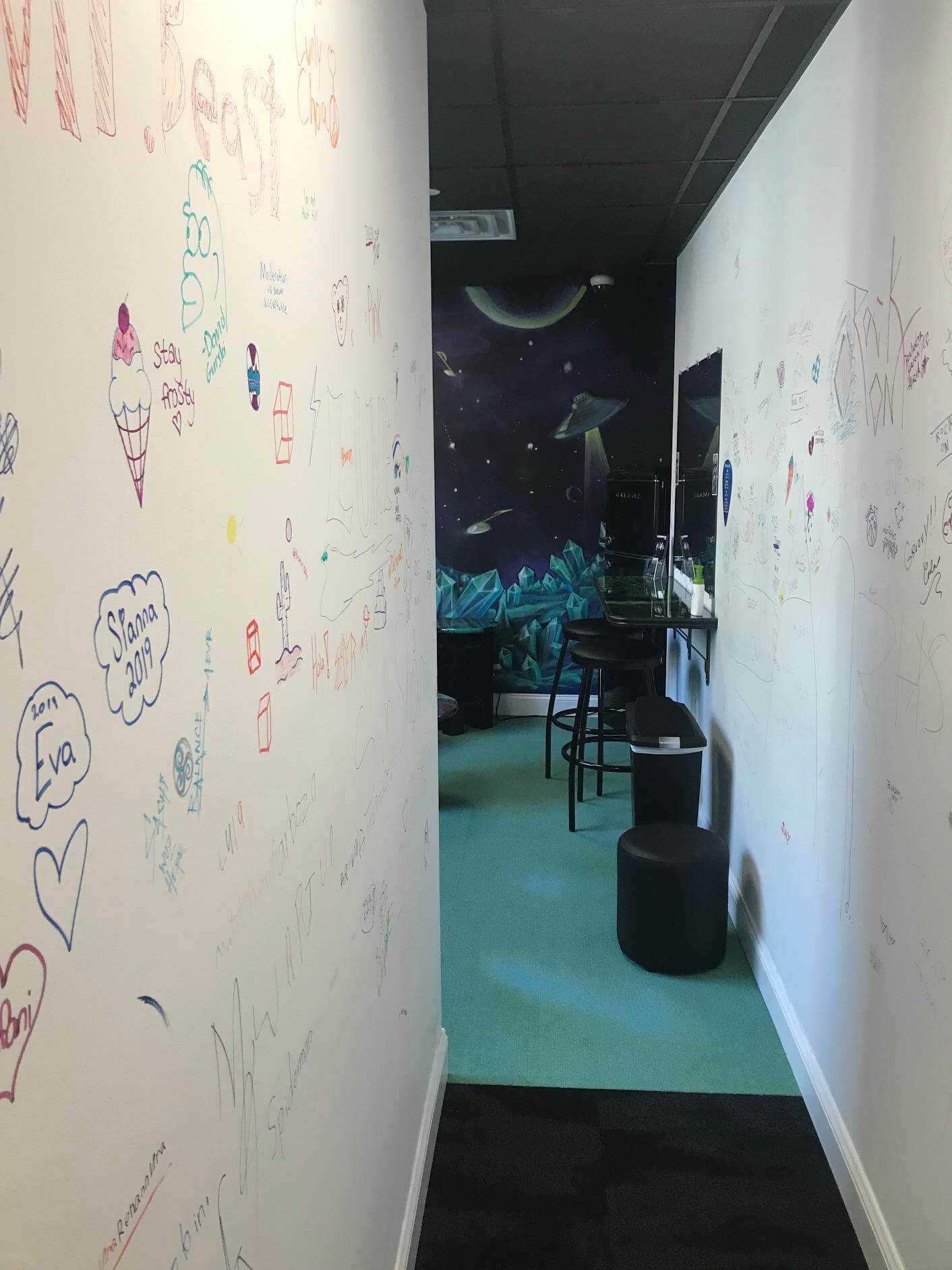 Our enrolled rockers signature wall is an important area of our school.