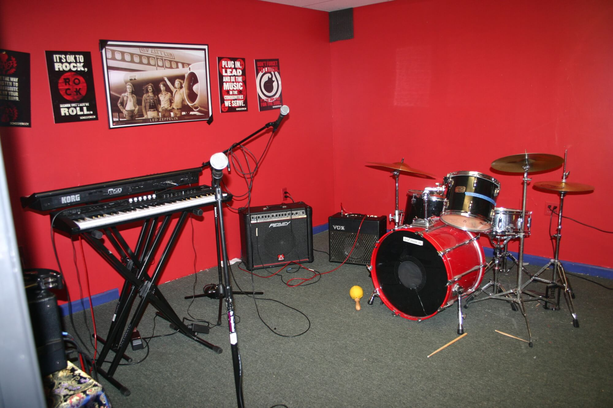 One of our practice rooms