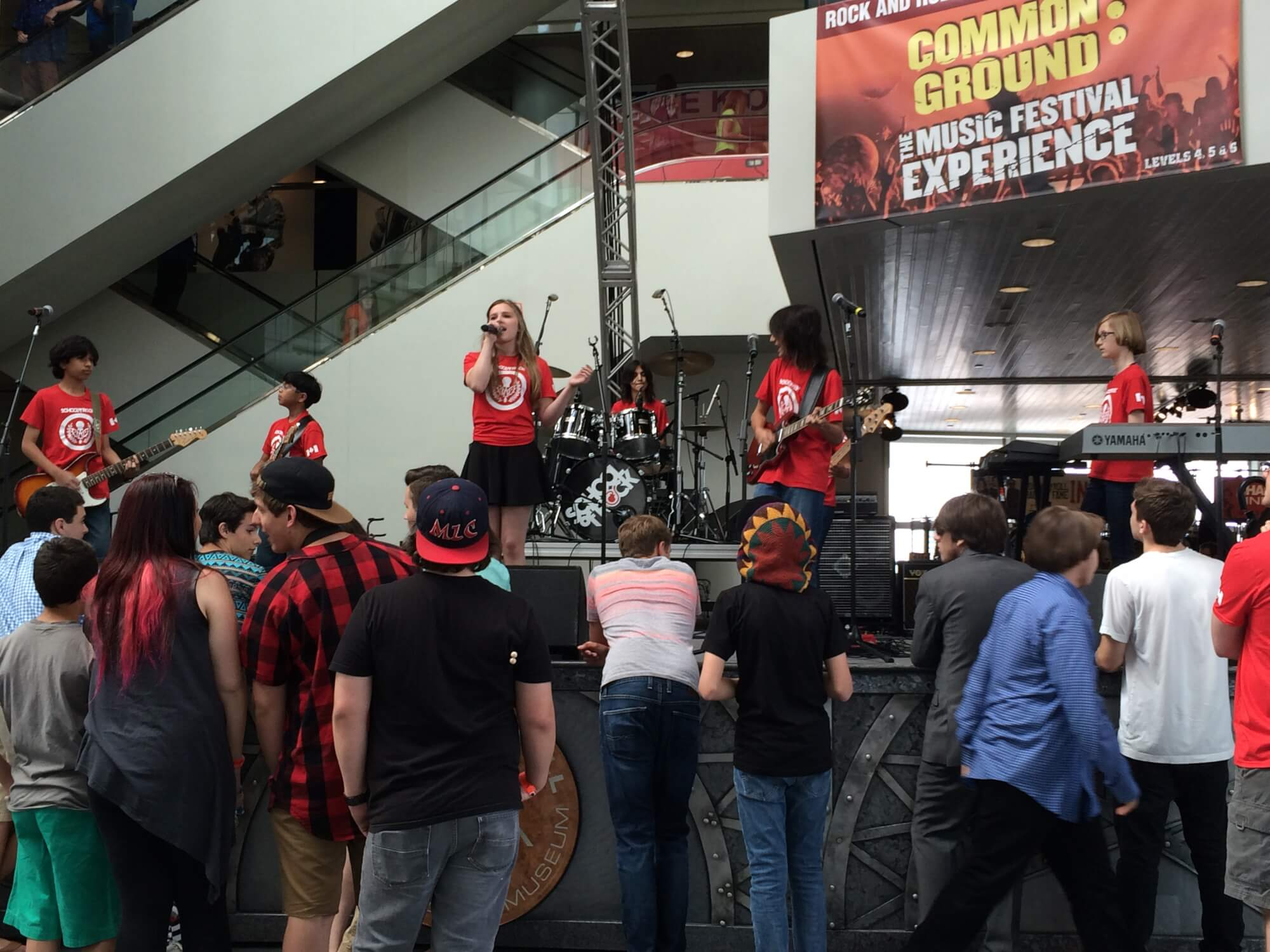 School of Rock Markham House Band playing at the Rock and Roll Hall of Fame in Cleveland!