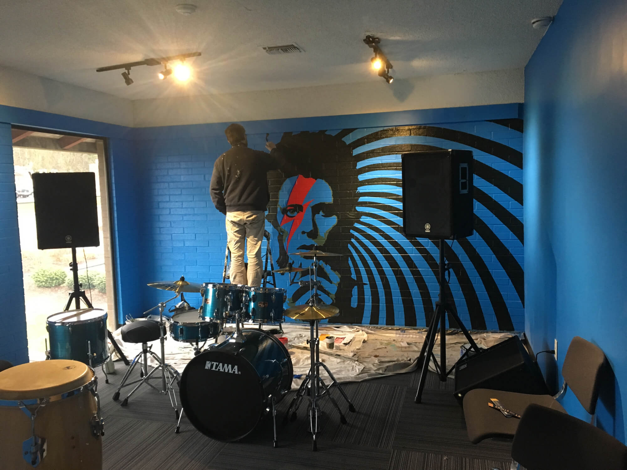 Adding some rehearsal room inspiration! Call [[PHONE]] to schedule a tour of our space in Lynnwood.