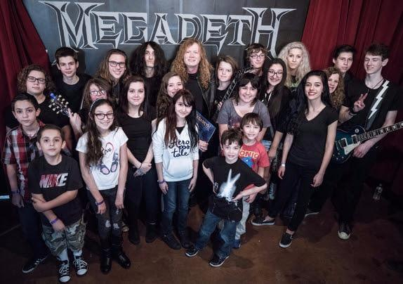 Some of our Students with Dave Mustaine of Megadeth