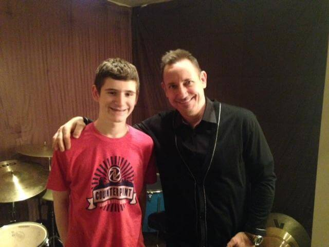 Sam's private lesson with Jimmy Chamberlin!