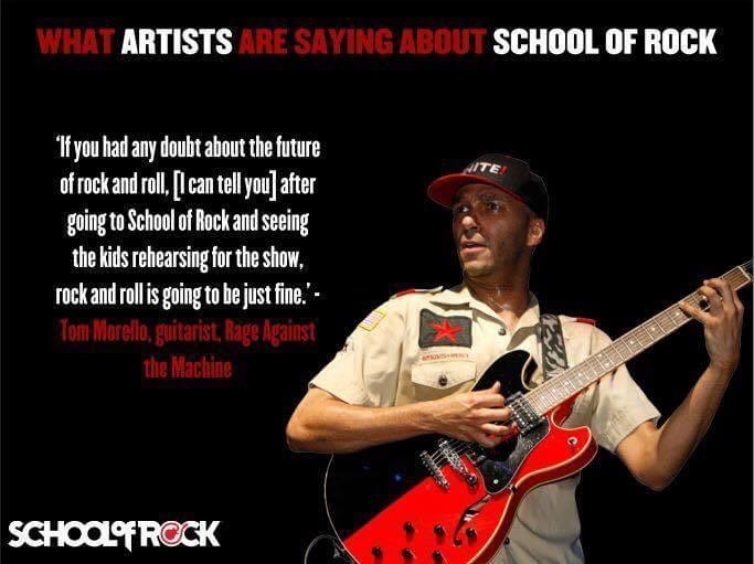 #shoutout to Tom Morello, guitarist Rage Against The Machine.  Thank you for supporting School of Rock! #tommorello #rageagainsththemachine #sorsomerville