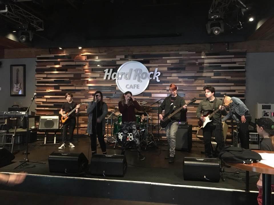 School of Rock Lynnwood Houseband performs at Seattle's Hardrock.