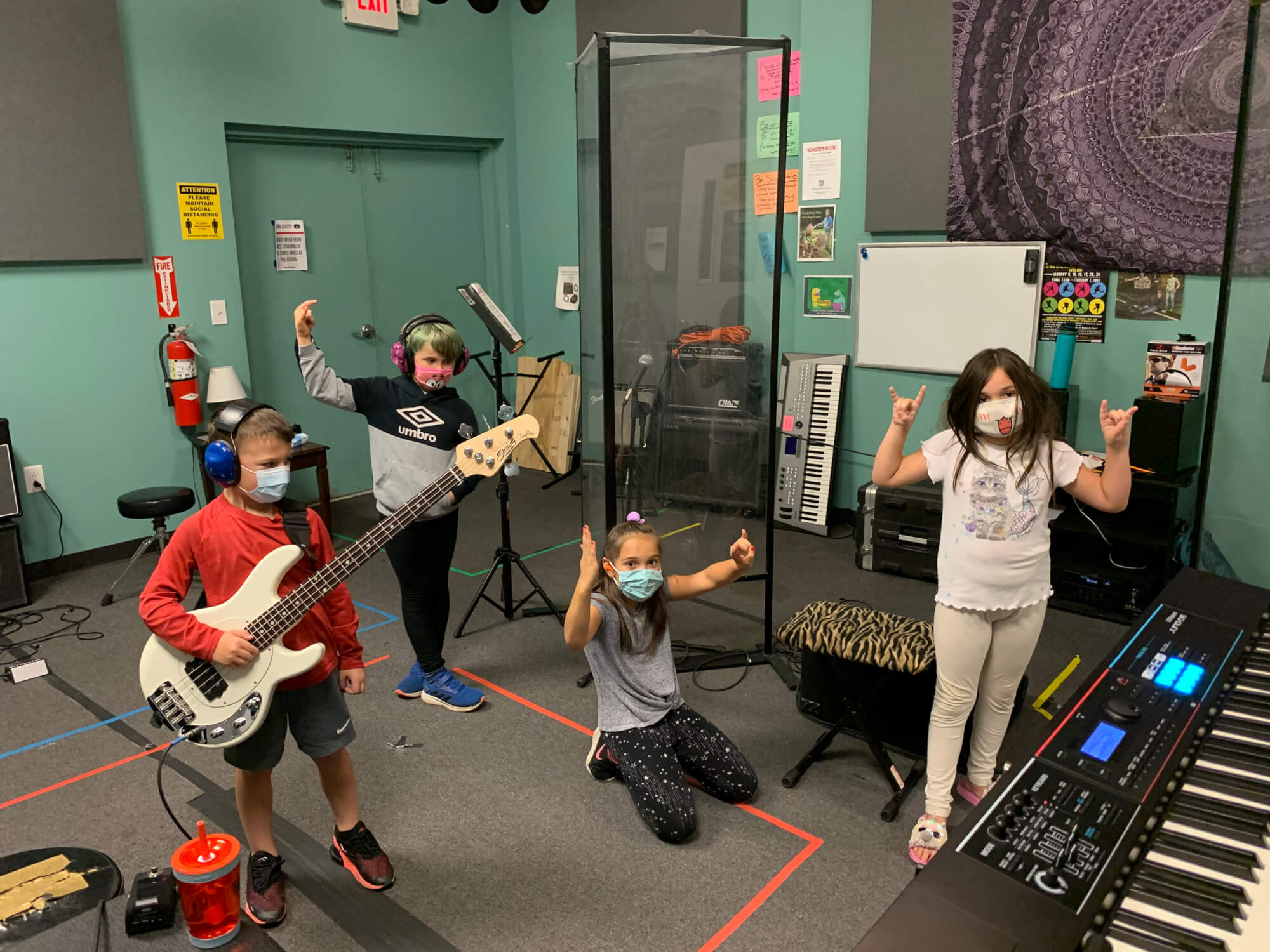 School of Rock Strongsville's class in session.