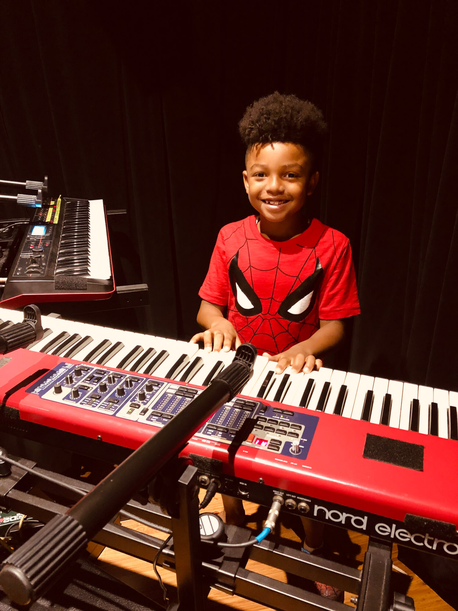 School of Rock East Cobb keyboard student performing