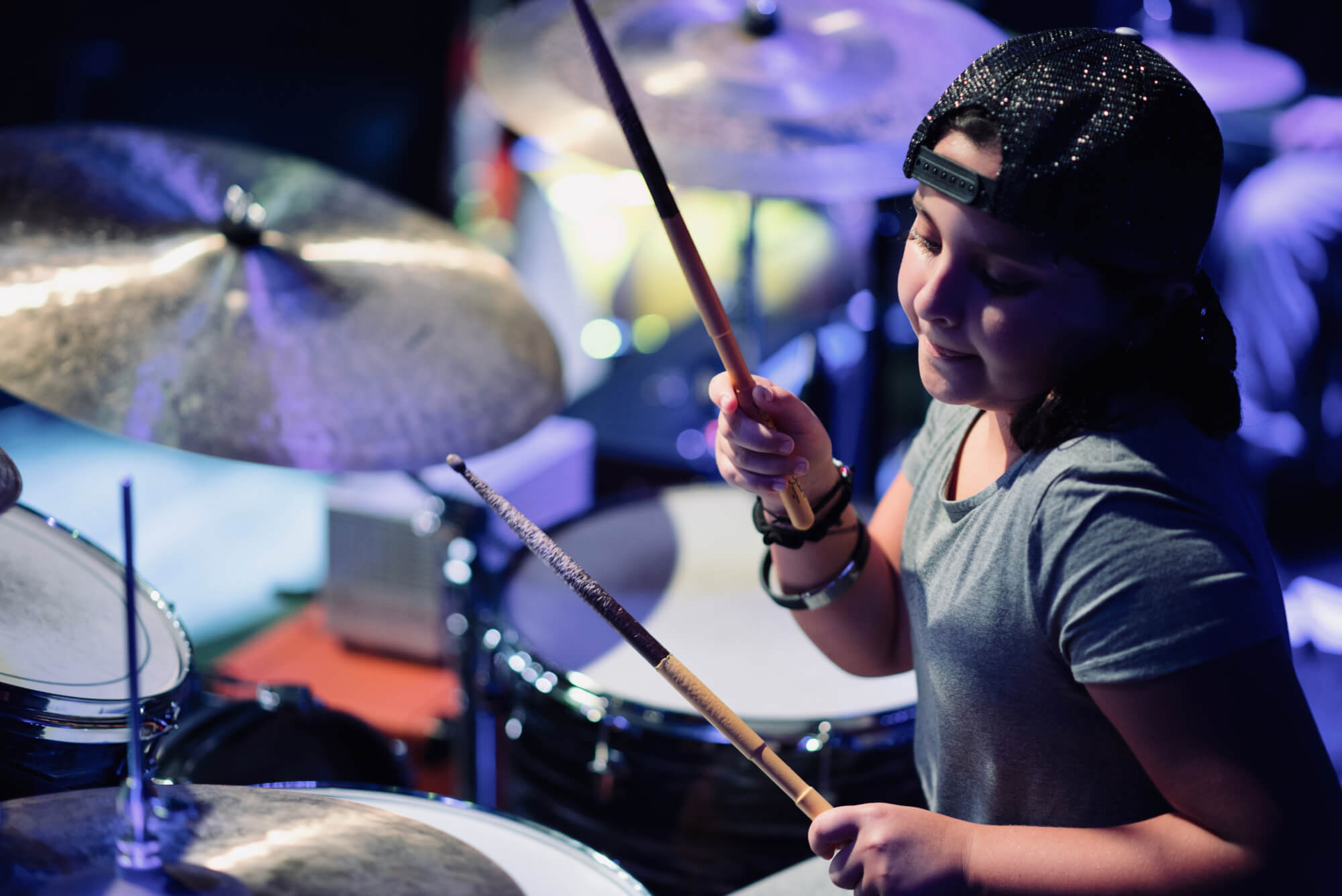School of Rock East Cobb drummer student