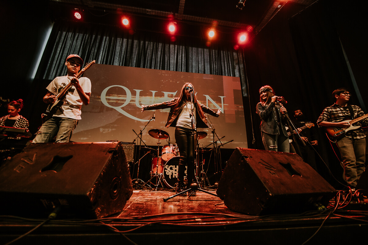 Show Queen. Ensamble de los sábados, X show de temporada School of Rock Chile (26 Mayo de 2018).