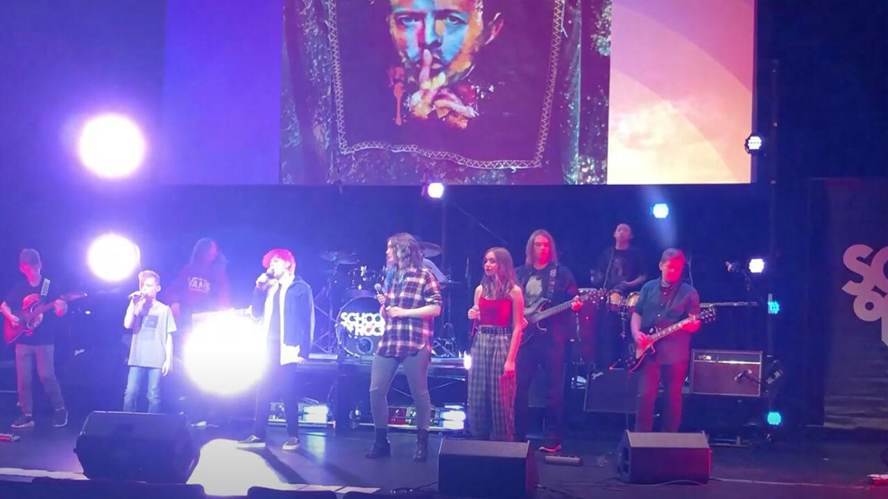 Students Perform 'Rebel Rebel' by David Bowie at Harper