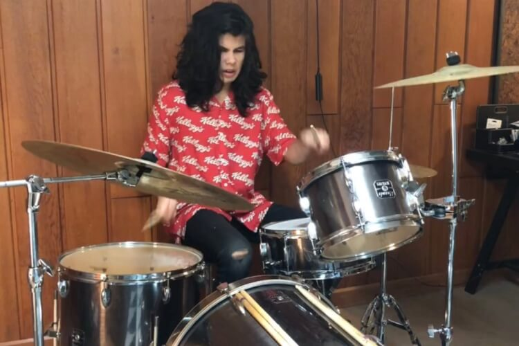 Rocco Ramos drumming student at School of Rock Katy