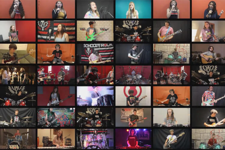 Alunos da School of Rock ao Redor do Mundo Gravam