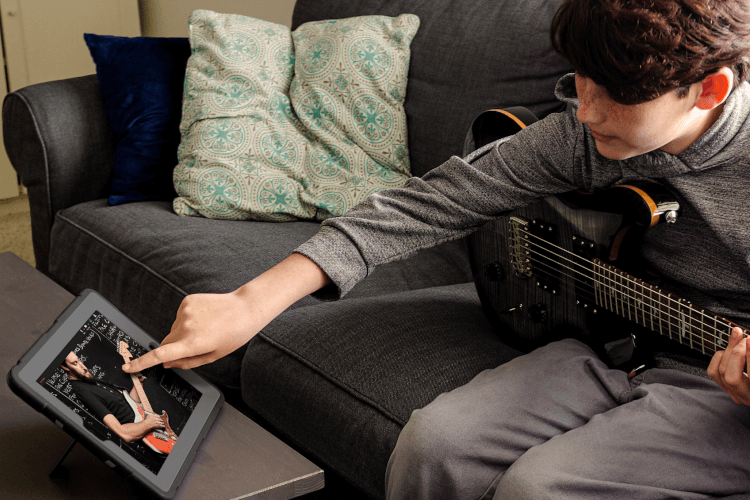 Remote music lessons with School of Rock