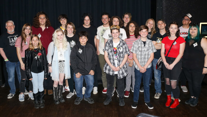 Southlake School of Rock students pose with Jack White following a backstage, VIP tour.