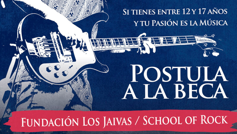 beca fundacion los jaivas school of rock