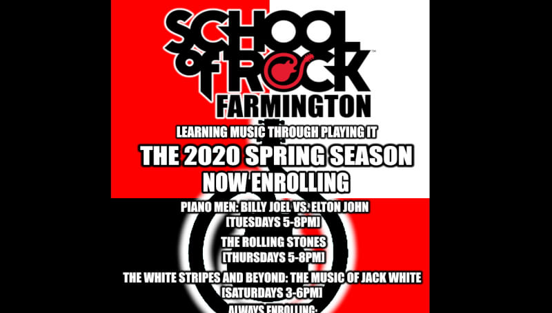 music lessons, white stripes, jack white, school of rock, school of rock farmington, spring, free music lessons, elton john, billy joel, rolling stones, guitar lessons, bass lessons, drum lessons, voice lessons, vocal lessons, lessons, keyboard lessons, p
