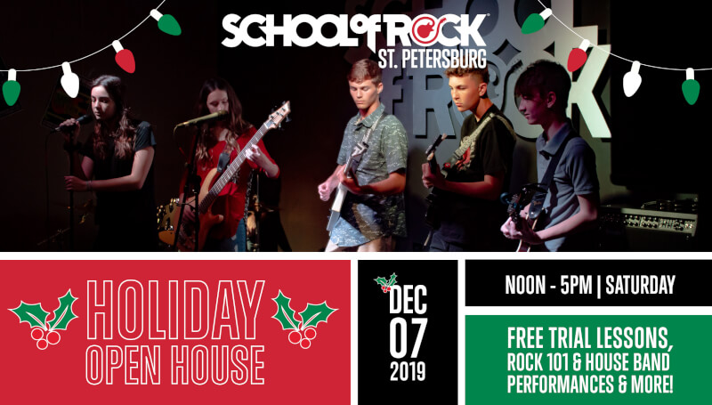 holiday open house school of rock st pete
