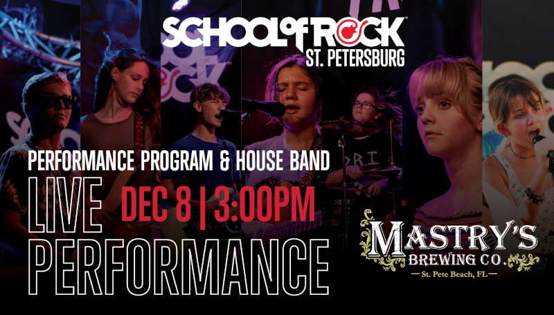 School of rock st pete mastrys brewing