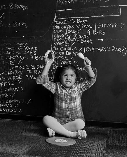 Workshops musicais para crianças em idade pré-escolar