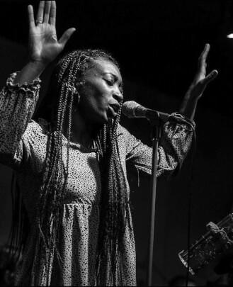 Music teacher Akili Ni Mali at School of Rock