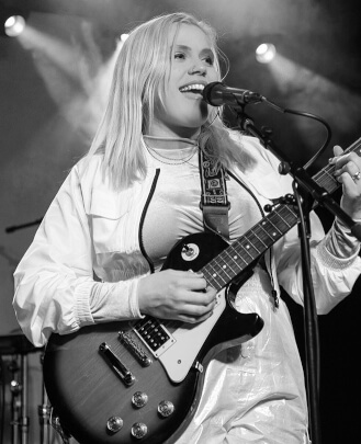 Guitar, singing, bass guitar, and keyboard teacher Stacey Kelleher at School of Rock Nashville